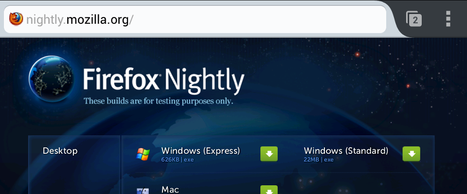 Toolbar with URL, domain highlighting, and the new tabs icon