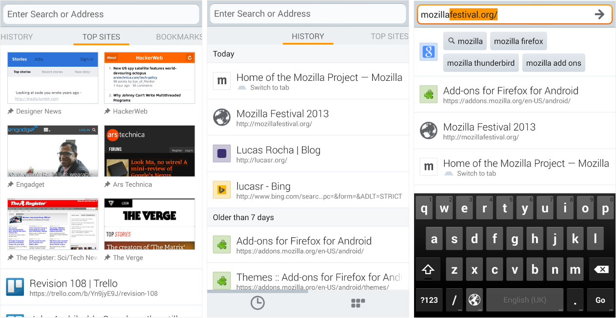 Firefox for Android in 2013 | Lucas Rocha